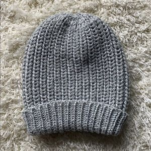 Accessories - Grey and Metallic Silver Knit Hat NWOT